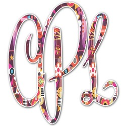 Abstract Music Monogram Decal - Small (Personalized)