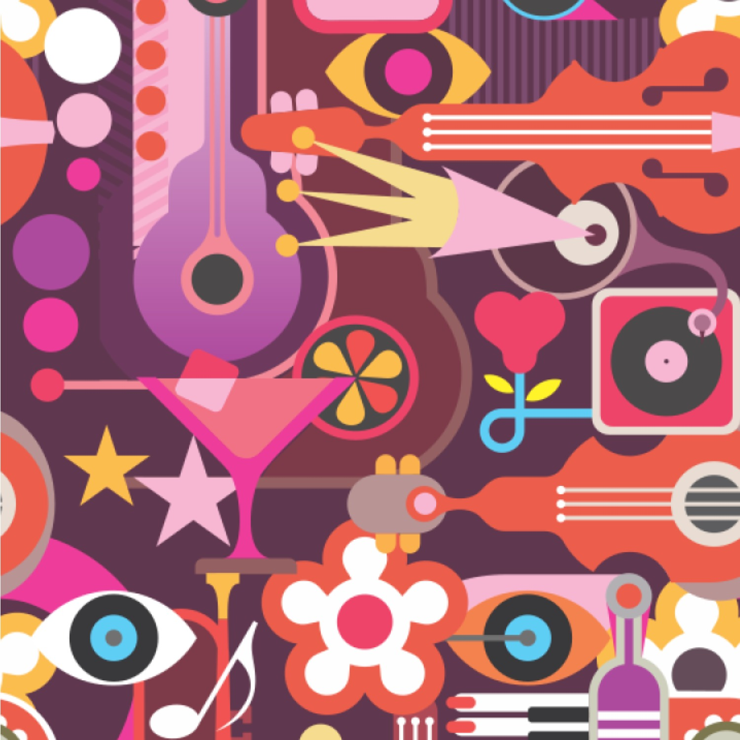 Abstract Music Wallpaper Amp Surface Covering Youcustomizeit
