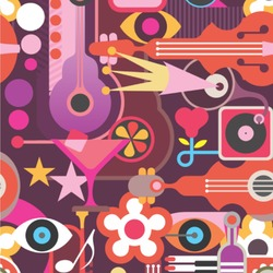 Abstract Music Wallpaper & Surface Covering