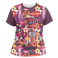 Abstract Music Women's Crew T-Shirt (Personalized)