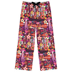 Abstract Music Womens Pajama Pants (Personalized)