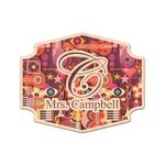 Abstract Music Genuine Maple or Cherry Wood Sticker (Personalized)