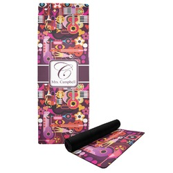 Abstract Music Yoga Mat (Personalized)