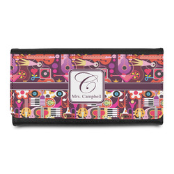 Abstract Music Leatherette Ladies Wallet (Personalized)