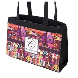 Abstract Music Zippered Everyday Tote (Personalized)