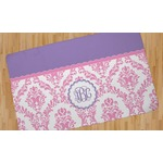 Pink, White & Purple Damask Area Rug (Personalized)