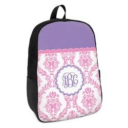 Pink, White & Purple Damask Kids Backpack (Personalized)