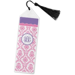 Pink, White & Purple Damask Book Mark w/Tassel (Personalized)