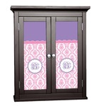 Pink, White & Purple Damask Cabinet Decal - Custom Size (Personalized)