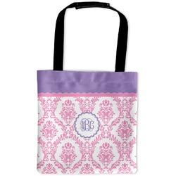 Pink, White & Purple Damask Auto Back Seat Organizer Bag (Personalized)
