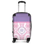 Pink, White & Purple Damask Suitcase (Personalized)