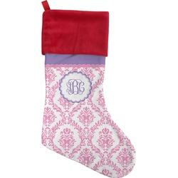 Pink, White & Purple Damask Christmas Stocking (Personalized)