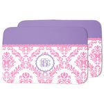 Pink, White & Purple Damask Dish Drying Mat (Personalized)