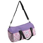 Pink, White & Purple Damask Duffel Bag (Personalized)