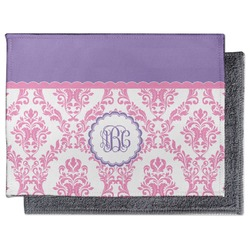 Pink, White & Purple Damask Microfiber Screen Cleaner (Personalized)
