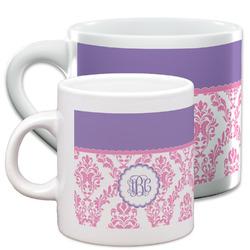 Pink, White & Purple Damask Espresso Cups (Personalized)