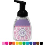 Pink, White & Purple Damask Foam Soap Dispenser (Personalized)