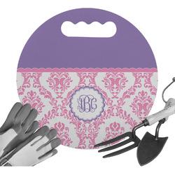 Pink, White & Purple Damask Gardening Knee Cushion (Personalized)