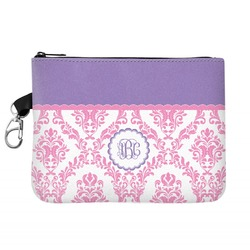 Pink, White & Purple Damask Golf Accessories Bag (Personalized)