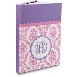 Pink, White & Purple Damask Hardbound Journal (Personalized)