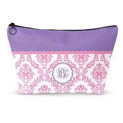 Pink, White & Purple Damask Makeup Bags (Personalized)