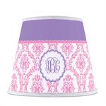 Pink, White & Purple Damask Empire Lamp Shade (Personalized)