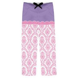 Pink, White & Purple Damask Mens Pajama Pants (Personalized)
