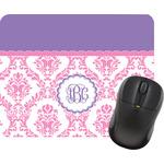 Pink, White & Purple Damask Mouse Pads (Personalized)