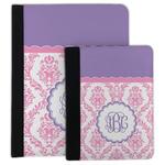 Pink, White & Purple Damask Padfolio Clipboard (Personalized)