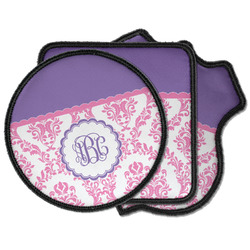 Pink, White & Purple Damask Iron on Patches (Personalized)