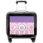 Pink, White & Purple Damask Pilot / Flight Suitcase (Personalized)