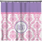Pink, White & Purple Damask Shower Curtain (Personalized)