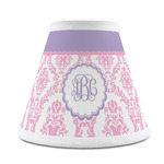 Pink, White & Purple Damask Chandelier Lamp Shade (Personalized)