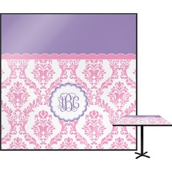 Pink, White & Purple Damask Square Table Top (Personalized)