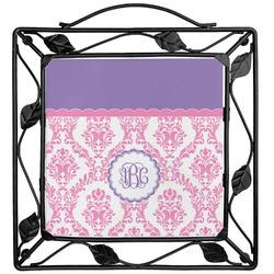 Pink, White & Purple Damask Trivet (Personalized)