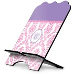 Pink, White & Purple Damask Stylized Tablet Stand (Personalized)