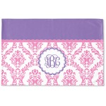 Pink, White & Purple Damask Woven Mat (Personalized)