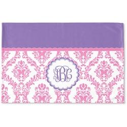 Pink, White & Purple Damask Woven Mat (Personalized)