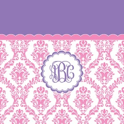 Pink, White & Purple Damask