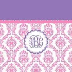 Pink, White & Purple Damask