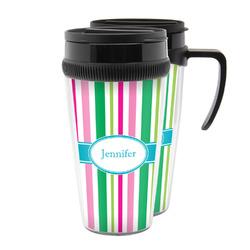 Grosgrain Stripe Acrylic Travel Mugs (Personalized)
