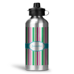 Grosgrain Stripe Water Bottle - Aluminum - 20 oz (Personalized)