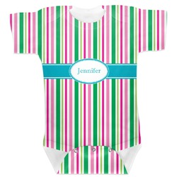 Grosgrain Stripe Baby Bodysuit (Personalized)