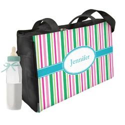 Grosgrain Stripe Diaper Bag (Personalized)