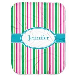 Grosgrain Stripe Baby Swaddling Blanket (Personalized)