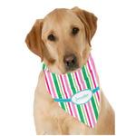 Grosgrain Stripe Dog Bandana Scarf w/ Name or Text