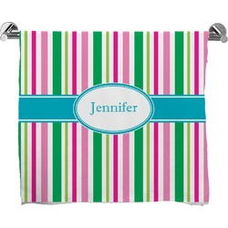 Grosgrain Stripe Full Print Bath Towel (Personalized)