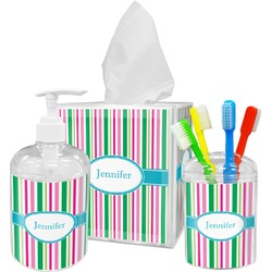 Grosgrain Stripe Bathroom Accessories Set (Personalized)