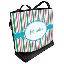 Grosgrain Stripe Beach Tote Bag (Personalized)