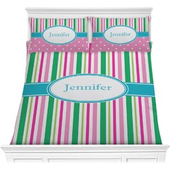 Grosgrain Stripe Comforter Set (Personalized)